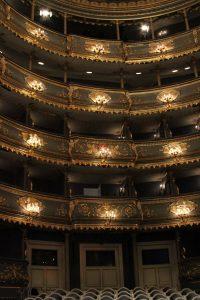 The interior of the Estates Theater.