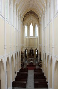 The interior of the Church of the Assumption of Our Lady and Saint John the Baptist.