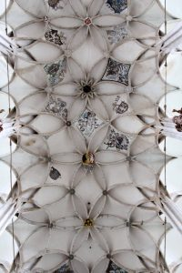 The ceiling in St. Barbara's Church.