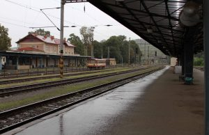 The railway station at Kutná Hora.