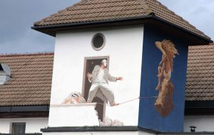 Wall painting in Brno.