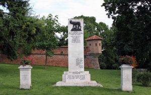 Memorial to Italian Carbonari at Špilberk Castle.