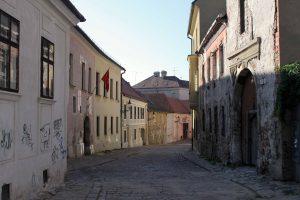 Kapitulská street in Bratislava's Old Town.