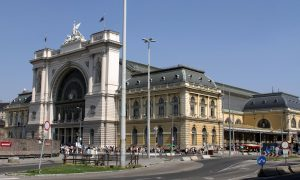Budapest-Keleti Railway Terminal; built in 1884, this is the main international and inter-city railway terminal in Budapest.