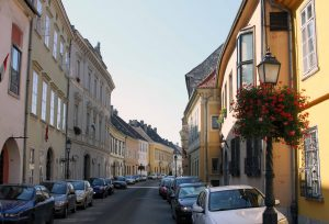 Street in the Buda Castle District.