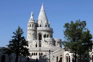 Fisherman's Bastion; built in 1902 AD, it is named after the guild of fisherman responsible for defending this section of the city wall during the Middle Ages.