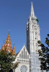 Matthias Church, founded in the 11th-century AD, the current building dates back to the 14th-century AD.