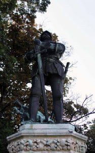 Statue found in Budapest.