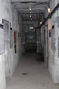 Corridor inside the bunker.