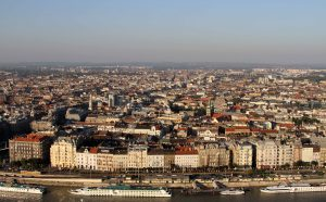 View of Budapest (the Pest side) from the citadel (which is on the Buda side of the city).