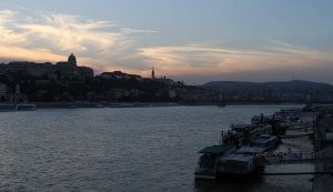 The Danube with Buda Castle on the left.