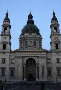 St. Stephen's Basilica at twilight.
