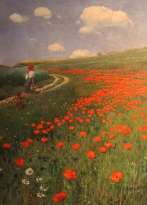 'Summer Landscape with Poppy Field' by Paul von Szinyei-Merse (1902 AD).