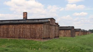 Barracks in Auschwitz II-Birkenau.