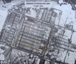 Aerial photo of Auschwitz II-Birkenau taken during World War II.