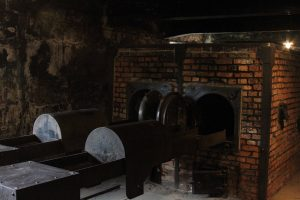 Interior of the crematorium at Auschwitz I.