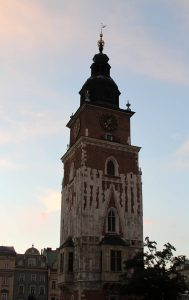 The Town Hall Tower in the Main Square of Kraków.
