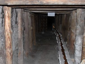 An old corridor inside the salt mine.