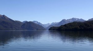 Lake Te Anau, on the boat ride to the start of the Milford Track.