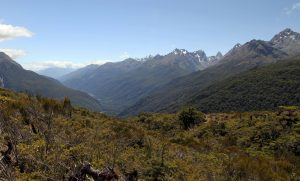 Another view of the mountains south-southwest of the Routeburn trail, near Key Summit.