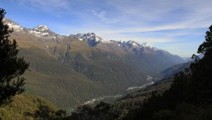 The Hollyford River Valley.