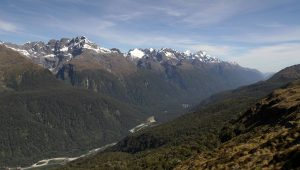 Another view of the Hollyford River Valley.