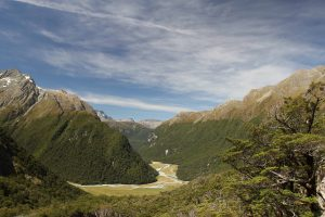 Routeburn Flats, seen from Routeburn Falls Hut.