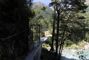 Bridge at the end of the Routeburn Track.