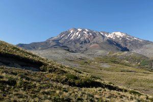 A closer view of Mount Ruapehu.