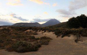 Mount Ngauruhoe seen near sunset.