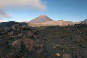 Mount Ngauruhoe in the morning.