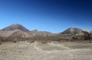 The martian-like landscape on the eastern side of Mount Ngauruhoe.