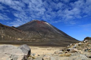 Mount Ngauruhoe seen from the bottom of South Crater.