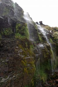 Water falling from Soda Springs.