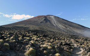 Approaching Mount Ngauruhoe.