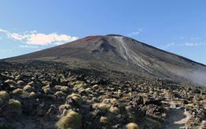 Approaching Mount Ngauruhoe.