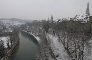 Looking east at the Aare River from Kornhausbrücke.