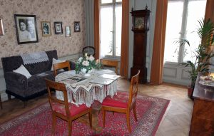 "The living room inside the Einsteinhaus (""Einstein House"") - where Albert Einstein and his family lived from 1903 to 1905 AD."