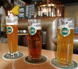 Three beers I had at the Altes Tramdepot Restaurant und Brauerei.