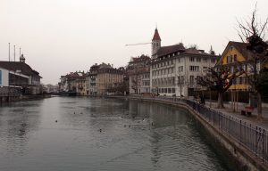 Another view of the Aare River in Thun.