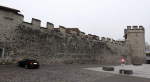 Remnants of the old city wall in Thun.