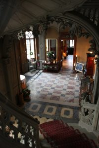 Inside Schadau Castle.