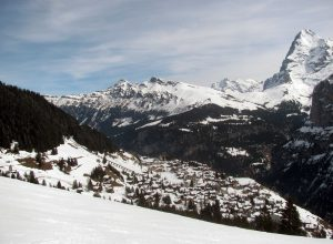 Another view of Mürren and the Eiger.