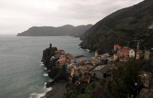 Vernazza, one of the five towns that make up the Cinque Terre region on the Italian Riviera.
