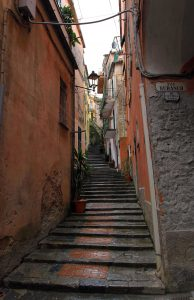 Stepped street in Monterosso al Mare.