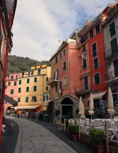Walking down Via Roma in Vernazza.