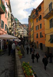 Another view of Via Colombo in Riomaggiore.