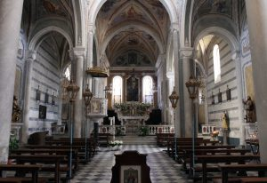 The interior of St. Peter's Church in Corniglia.