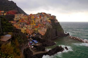 Manarola on a rainy day.