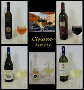 Some of the wine I enjoyed while staying in Cinque Terre.